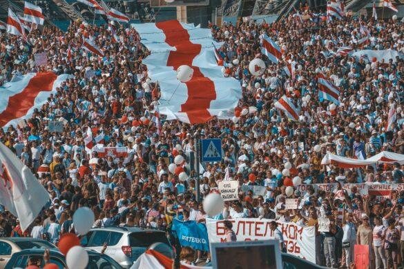 protesty w mińsku 2020